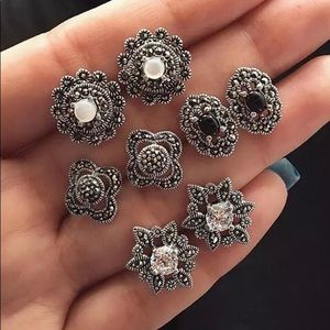 4 Piece Stud Earrings Set NEW